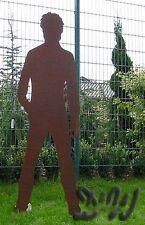 MANN TONI lebensgroß EDEL ROST FIGUR Garten Deko Ladendeko Edelrost WERBUNG