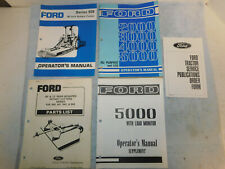 Ford 2000/3000/4000/5000 All Purpose LCG & 939 Rotory Tractor Operator's Manual