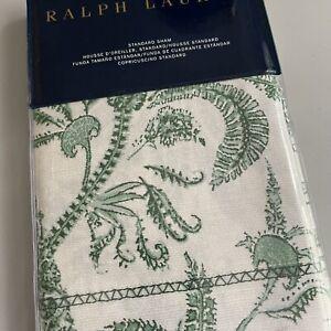 Ralph Lauren ONE 1 STANDARD SHAM Charleston Preslie Green Floral Paisley Free 📦