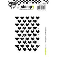 Carabelle Studio Valentine Hearts Cling Stamp Set, Art Journal, Scrapbooking