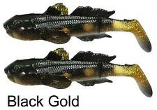 SAVAGE GEAR 3D GOBY 16cm 62g BLACK GOLD PIKE PERCH ZANDER SEA TROUT FISHING LURE
