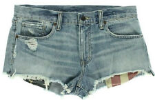 NEW Womens Denim & Supply Ralph Lauren Destroy Cut Off Mini Shorts Size 32 AU 14