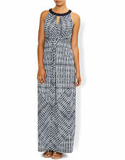 BNWT Monsoon Navy/White RUBY PRINT Maxi Dress SIZE 10