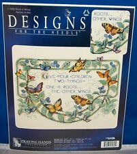 Cross Stitch KIT..Give your children..ROOTS & WINGS picture 9x12 FREE SHIP - NIP