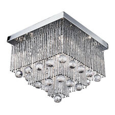 Searchlight 6055-5CC Beatrix Chrome 5 Light Fitting With Crystal Drops