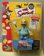 GRAMPA SIMPSONS ACTION FIGURE Toy WoS Wave 1 Interactive 99112 Springfield NEW