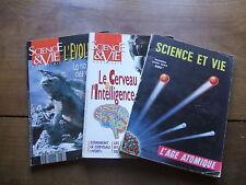 LOT de 3 SCIENCE ET VIE Hors série de 1950, 1990 et 1991/L'âge atomique...