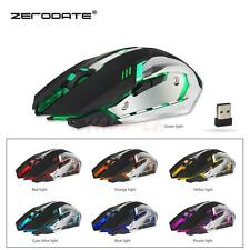 Rechargeable X70 7 LED Backlit Wireless USB Optical Gaming Mouse Mice 2.4GHz US