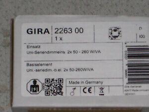 GIRA 2263 00 - Universal Serien Tast Dimmer