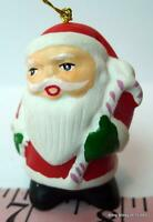 "Santa Claus with Candy Cane Christmas Ornament 2"" tall"