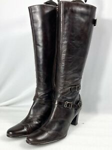NEXT Women's Ladies Size 8 /42 Chocolate Brown Knee-High Leather Boots