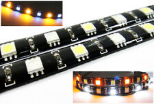 2x AMBER WHITE 12 SMD LED Light Strip For BMW DRL Parking Signal Light Blinker