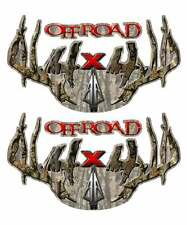 Off Road 4x4 Truck Decal Set - Camouflage Arrow Antler Sticker for Ford Chevy