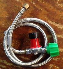 """HP,  Regulator Kit 0-30 PSI with 48"""" Stainless Braided Hose for Cookers"""