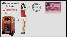 1940 Wurlitzer Juke Box Ad Featured on Xmas Collector's Envelope *A107