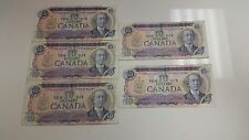 Canada 1971 $10 Bills Lot of (5) Rare Currency