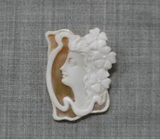 ~(sea shells) ~36mm*28mm.*(ec1728) Beauty Hand Carving Cameo