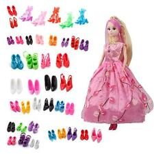 40 Pairs Varied Elegant High Heel Sandal Shoes Boots For Barbie Doll Kids Gift