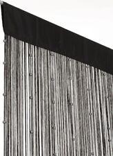 Perlen Fadenvorhang Helena 90 X 250 Cm Farbe Schwarz/silber