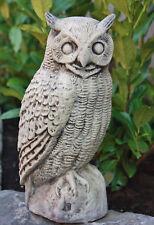 CHOUETTE HIBOU Figurines d'animaux en pierre fonte frostfest d'oiseaux neuf