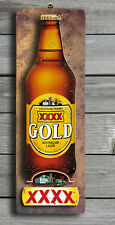 XXXX Gold 3D LOOK Rustic Wooden BAR Plaque / Sign (FREE POST) Stubby Image