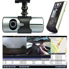 "1080P G-Sensor GPS 2.7"" Dual Lens HD Car DVR Camera Video Recorder Dash Cam"