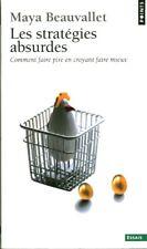 Livre Poche les stratégies absurdes Maya Beauvallet book