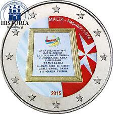 Malta 2 Euro Gedenkmünze 2015 bfr. Parlamentarische Republik seit 1974 in Farbe