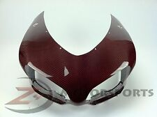 Ducati 848 1098 1198 Upper Front Nose Headlight Fairing Cowl Carbon Fiber Red