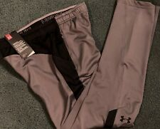 Nwt Under Armour Boys L Gray/Black Lightweight Athletic Pants Ylg