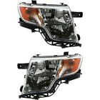 Headlight Set For 2007-2010 Ford Edge Left And Right With Bulb Capa 2pc
