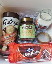 Gingerbread Gift Box. Beanies Coffee, Scented Candle Galaxy Chocolate & Biscuits