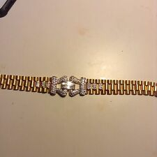 Men's Stunning 18 Karat Yellow Gold Bracelet With Diamonds 4 Ct