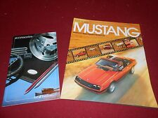 1981 FORD MUSTANG, GHIA, COBRA 16 p. BROCHURE + 24 p. '81 ACCESSORIES CATALOG
