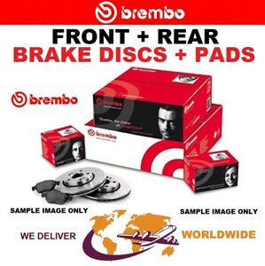 BREMBO XTRA Drilled FRONT + REAR DISCS + PADS for VW BEETLE 2.0 TSI 2014-2018