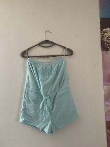 Forever 21 X Juicy Couture Mint Terry Cloth Romper Size Large