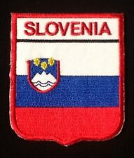 SLOVENIA SLOVENIAN NATIONAL COUNTRY FLAG BADGE IRON SEW ON PATCH CREST