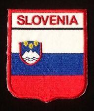 SLOVENIEN SLOWENISCH NATIONAL LANDESFLAGGE ABZEICHEN EISEN AUFNÄHER WAPPEN