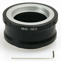 M42 screw Zenit Zeiss Lens to Sony E mount adapter NEX-7 5T 6 A6000 A7 A7R A5100