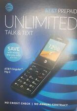 AT&T Cingular Flip 2 Prepaid No Contract Black