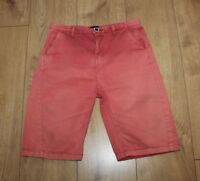 Red Brick Denim RIVER ISLAND Zip Mid Waist Stonewashed Shorts 11-12 Yrs L 9