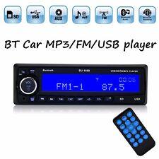 Car Radio Bluetooth MP3 Player USB/SD/AUX/Clock/Remote Handsfree 1DIN Head Unit