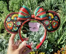 Disney Parks 2020 Coco Floral Embroided Minnie Ears EPCOT World Showcase Mexico