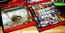 2 PS3 GAMES> Resistance: Fall of Man Greatest Hits> Grand Theft Auto IV GR. HITS