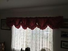 French Country Solid Pattern Window Curtains