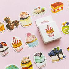 50pcs/pack Sweet Cakes Stickers Kawaii Stationery Scrapbooking Stickers New