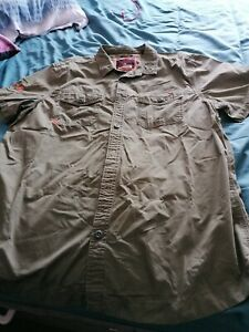 XXXL green military style shirt, Superdry rookie edition, button pockets