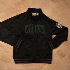 Boston Celtics Track Jacket Youth Large Hardwood Classics Black NBA