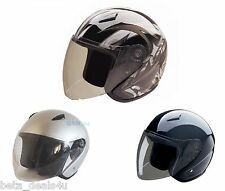 HCI OPEN FACE MOTORBIKE HELMET MOTORCYCLE MOTOR BIKE SCOOTER BIKE QUAD SAFETY