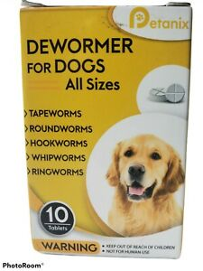 Petanix Dewormer for Dogs and Puppies - 10 Tablets - Exp 10/25/2021